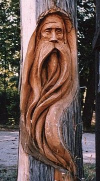 Woodworking in a tree... very cool, and hard to do.
