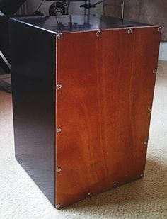 Homemade Cajon (box drum).  This is my first go at making a cajon.  Turned out nice and sounds good.