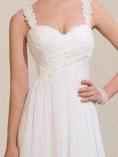 beach wedding dress - cute waist design
