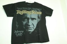 Rolling Stone Collection issue 933 cover 2003 Johhny Cash T shirt sz L #Unbranded #GraphicTee