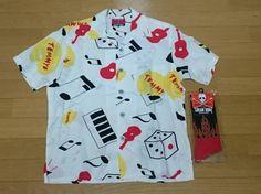 クリームソーダ アロハシャツ ファイアーソックス 2点セット_アロハシャツとソックスの2点セットです。 Cream Soda, Button Down Shirt, Men Casual, Mens Tops, Shirts, Fashion, Moda, Dress Shirt, Fashion Styles