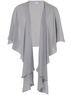Plus Size Mother of the Bride Dresses & Outfits Grey Chiffon Shawl Dress Outfits, Cool Outfits, Skirt Fashion, Fashion Outfits, Mob Dresses, Bride Dresses, Chiffon Shawl, Amazing Wedding Dress, Capes