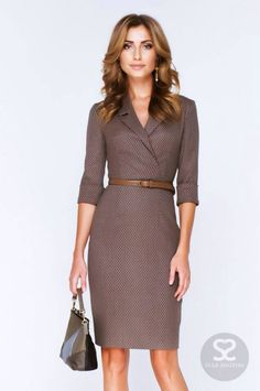If I have a pattern or shawl collar anyway, then . - Business Outfits for Work Business Casual Outfits, Business Dresses, Business Fashion, Business Style, Business Wear, Mode Outfits, Dress Outfits, Fashion Dresses, Dress Clothes