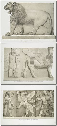 Monuments of Nineveh; including bas-reliefs from the palace of Sennacherib and bronzes from the ruins of Nimroud. From drawings made on the spot, during a second expedition to Assyria, by Austen Henry Layard, M.P.