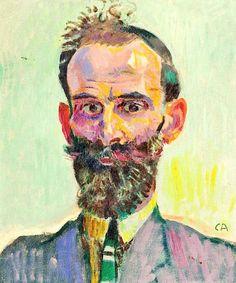 cuno amiet _  collection art portrait figuratif moderne couleur (color painting portrait)