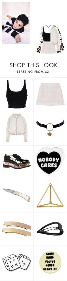 """""""Heart Attack - EXO"""" by seungvie ❤ liked on Polyvore featuring Roque, Jeffrey Campbell, Shihara, Monki, Forever 21, MNKR and Retrò"""