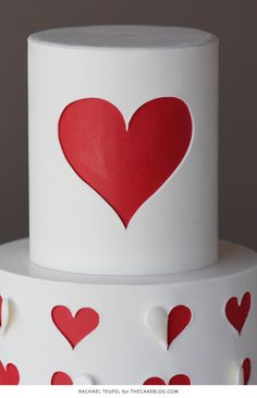 How to make a heart cutout cake   by Rachael Teufel for TheCakeBlog.com