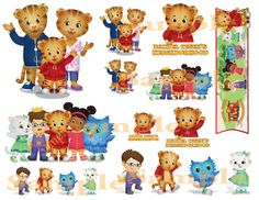 Daniel Tiger - Instant Printable Digital Download #2 for Stickers Scrapbooking Bags Cups etc.
