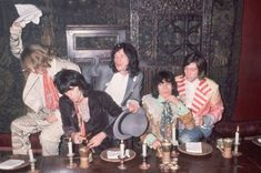 """Satisfaction: The Rolling Stones """"larking about"""" for the launch of their 'Beggars Banquet' album, 5th December 1968"""