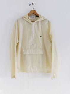 vintage #80s mens izod lacoste hooded nylon rain packable windbreaker jacket s from $39.99