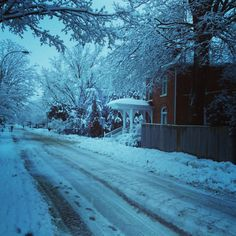 Winter Morning in Small Town, ON