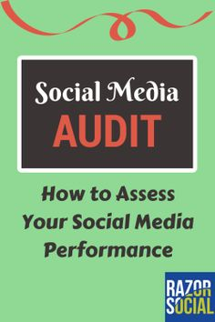 Get the most out of your social media by checking out the analytics:  Social media audit: How to use tools to audit social media