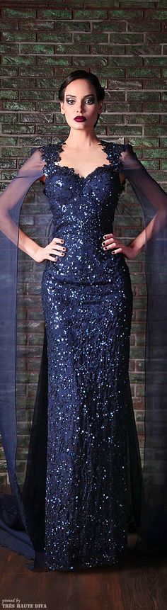 It's like the dress Anastasia wears to the opera in the movie Anastasia!!!!  Rami Kadi Fall 2013