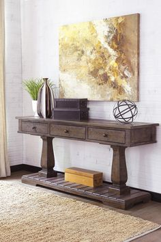 Zalarah Sofa Table by Ashley - Home Gallery Stores