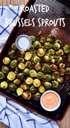 Roasted Brussels Sprouts recipe - The perfect gluten-free, vegan, healthy side dish for dinner! I highly recommend serving with honey-sriracha aioli. These tasty veggies are great straight out of the oven, or tossed into a salad if you have any left over.