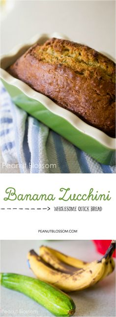 Easy homemade banana zucchini bread, just right for using up the summer produce! Toast a slice and add a pat of butter for an amazing after school snack. Baby Food Recipes, Cooking Recipes, Good Food, Yummy Food, Hidden Veggies, Homemade Baby Foods, Homemade Butter, Zucchini Bread, Zuchinni Banana Bread