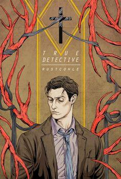"""True Detective, la série de la chaine HBO écrite par Nick Pizzolatto et réalisée par Cary Fukunagaqui cartonne en ce début d'année, inspire déjà les sériephilesdoués pour l'illustration. Dessins et affiches parfois disponibles à la vente, voici quelques créations intéressantes. """"True Detective"""" par Jay Shaw. 18″ x 24″ Screenprint. Ed of 120 N. $40 """"True…"""