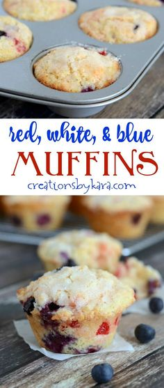 Everyone loves these Lemon Blueberry Cherry Muffins. They are perfect for Memorial Day and July 4th!