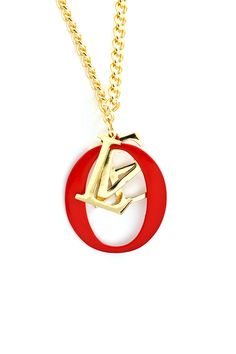 Stacked Love Necklace in Rouge