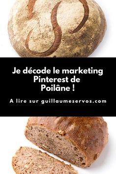 Comment Poilâne utilise Pinterest pour son business ? Je décode le Pinterest marketing de cette célèbre boulangerie parisienne qui a traversé les époques en préservant ce qu'il y a de meilleur. Pinterest Marketing, Bread, Blog, Articles, Business, Bakery Business, Brot, Blogging, Baking