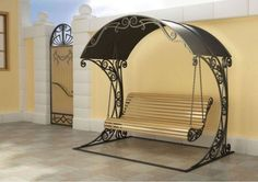 Metal pergola steel decor ideas for 2019 Iron Furniture, Garden Furniture, Furniture Design, Furniture Online, Metal Projects, Metal Crafts, Metal Pergola, Pergola Kits, Pergola Ideas