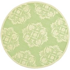 Chelsea Green and Beige Round: 5 Ft. x 5 Ft. Rug Rug - (In Round)