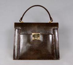 Exotic Leather Elegant Vintage 70s Real Lizard Leather Handbag Bag by vdpshop on Etsy