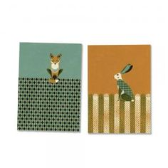 Wildlife Tea Towels: Fox & Hare  / Tom Frost
