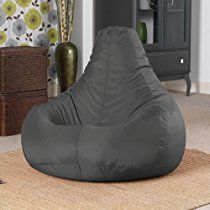 Designer Recliner Gaming Bean Bag SLATE GREY - Indoor & Outdoor Beanbag Chair (Water Resistant) by Bean Bag Bazaar®
