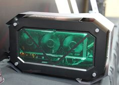 PowerColor showcased its external graphics enclosure for AMD Radeon graphics cards that take advantage of AMD XConnect technology. The DevilBox not just a graphics enclosure.