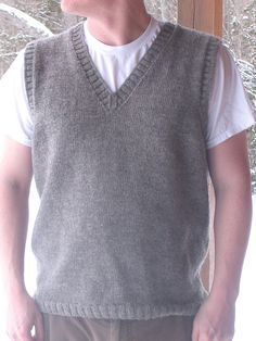 Conservative (but Pretty!) Dad Vest Ravelry: Project Gallery for Conservative (but Pretty!) Dad Vest pattern by Julia Trice Always aspired to figure out how. Baby Boy Knitting Patterns, Jumper Knitting Pattern, Crochet Vest Pattern, Knitting Paterns, Mens Vest Pattern, Puffer Vest Outfit, Mens Knit Sweater, Casual Skirt Outfits, Ravelry