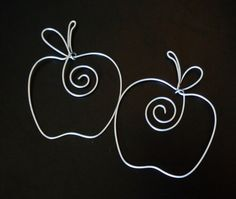 Apple Shaped Silver Wire Bookmark, Shower Favors, Book Club, Wire Art, Teacher Gift, Read. $3.00, via Etsy.