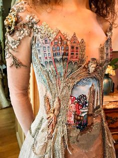 "French Designer Creates Exquisite ""Wearable Storybook"" Dress"
