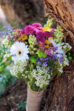 beautiful wildflower bouquet