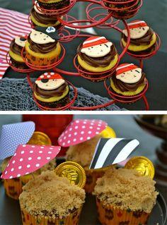 Cupcakes para una fiesta pirata! / Pirate cupcakes!