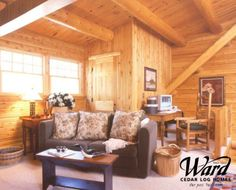 Perfect space in this loft area to sit and relax. Next At Home, Sitting Area, Log Homes, Great Rooms, Divider, Relax, Loft, House Design, Inspiration