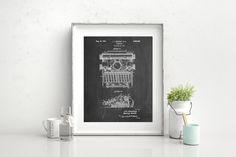 School Typewriter Patent Poster Typewriter Print by PatentPrints