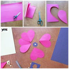 Creating poppies using heart shapes. A nice way to commemorate Veteran's Day and Remembrance Day. Remembrance Day Activities, Remembrance Day Poppy, Poppy Craft For Kids, Crafts For Kids, Wreath Crafts, Flower Crafts, Paper Plate Poppy Craft, History Of Memorial Day, Poppy Template