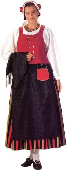 Virtain  naisen kansallispuku   © Helmi Vuorelma Oy European Costumes, Ukraine, Folk Clothing, Folk Costume, Traditional Dresses, Viria, Love Fashion, Beautiful People, How To Wear