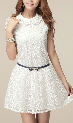 Sun flower organza lace dress
