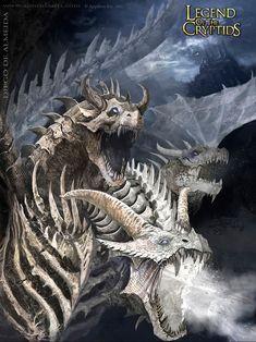 Skeleton dragon #skeleton