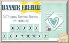 {free} printable blue birthday banner