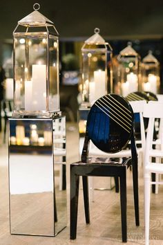 A modern, black-tie celebration infused with old Hollywood glamour. #black&white   Photography by Tara McMullen   WedLuxe Magazine