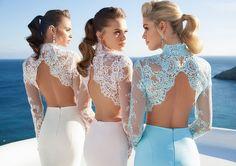 Tarik Ediz Spring Dresses Inspired By Mykonos Event Dresses, Pageant Dresses, Bridal Dresses, Bridesmaid Dresses, Long Sleeve Fitted Dress, Chiffon Dress Long, Dress Lace, Prom Dresses Under 100, Cheap Prom Dresses