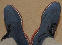Grenson - Sharp Navy Nu-buck Boots