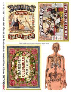 Free Printables  ARTEFACTS - antique images