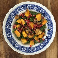 Rosemary roasted squash and mushroom salad. . http://deliciouslyella.com/rosemary-roasted-squash-and-sauteed-mushroom-salad-vegan/