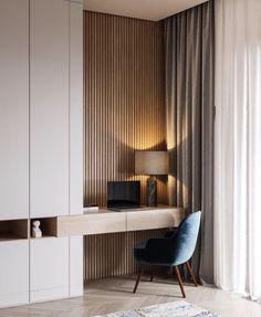 31 The Best Modern Home Office Design Ideas - Thuisdecoratie Home Office Design, Home Office Decor, Home Design, Office Ideas, Wall Design, Corner Office, Design Logo, Office Designs, Kid Furniture