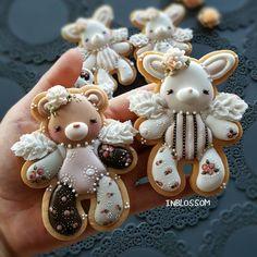 Cookies For Kids, Cute Cookies, Cupcake Cookies, Cupcakes, Christmas Sugar Cookies, Easter Cookies, Gingerbread Cookies, Galletas Cookies, Iced Cookies