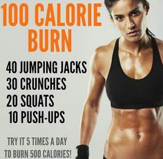 Full Body Workout 4-5 times a day to get rid of fat everywhere. •Jumping Jacks - Full ones •Crunches - Standing up knee-elbow touch 30 each side •Squats - feet behind shoulders, straight posture, squeeze going up.